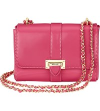 Aspinal Of London Lottie Chain Strap Leather Bag Camelia