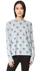 360 Sweater Emely Skull Cashmere Chambray Charcoal