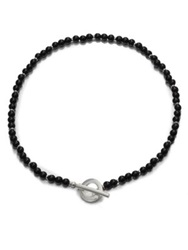 Gucci Silver And Onyx Necklace Sterling Silver Black Onyx