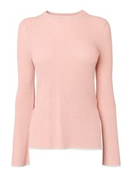 Whistles Fluted Sleeve Knit Pastel Pink