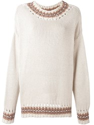 Dolce And Gabbana Vintage Open Knit Jumper Nude And Neutrals