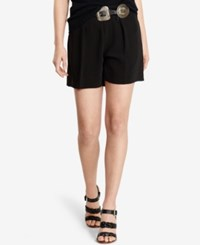 Polo Ralph Lauren Pleated High Rise Shorts Polo Black
