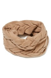 Lafayette 148 New York Women's Braided Cable Cashmere Snood Teak