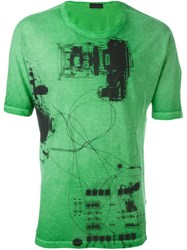 Diesel Black Gold 'Tastersiu X Ray' T Shirt Green