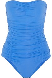 Melissa Odabash Future Dreams Jacquie Ruched Bandeau Swimsuit Azure