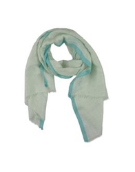 David Mayer Naman Oblong Scarves Light Green