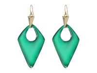 Alexis Bittar Pointed Pyramid Drop Earrings Jungle Green Earring Olive