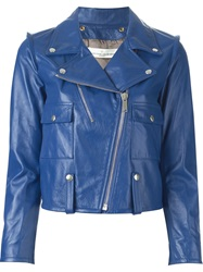 Golden Goose Deluxe Brand Biker Jacket Blue