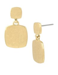 Kenneth Cole Square Double Drop Earrings Gold