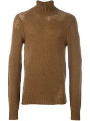 Maison Martin Margiela Distress Knit Sweater Brown