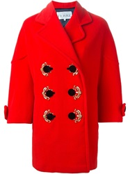 Gianfranco Ferre Vintage Embellished Double Breasted Coat Red
