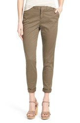 Women's Caslon Chino Ankle Pants Olive Tarmac