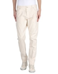 Uniform Denim Pants Beige
