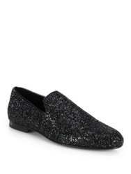 Jimmy Choo Sloane Glitter Slippers Black