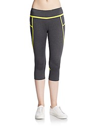 Andrew Marc New York Cropped Performance Leggings Shadow Heather