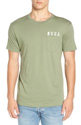 Rvca Men's 'Alsweiler Flower' Graphic T Shirt Cadet Green