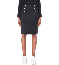 Claudie Pierlot Satellite Crepe Skirt Marine