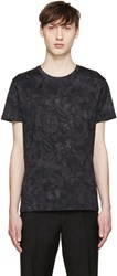 Valentino Black Butterfly Camouflage T Shirt