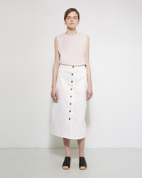 Apiece Apart Correa A Line Denim Skirt White