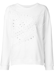 Vivienne Westwood Anglomania Embroidered Sweatshirt White