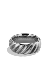 David Yurman Modern Cable Band Ring Gray