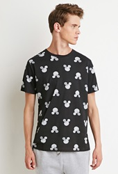Forever 21 Stars And Stripes Mickey Mouse Tee Black White