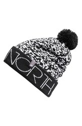 The North Face Men's 'Ski Tuke V' Beanie Black Black Whiteout Print