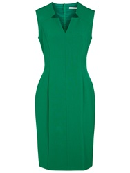 Boss Logo Boss Sleeveless Shift Dress Open Green