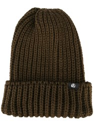 Paul Smith Ps By Chunky Knit Beanie Brown
