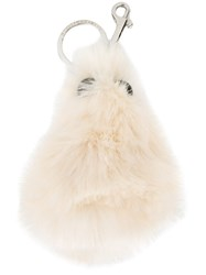 Stella Mccartney Faux Fur Character Keyring Nude And Neutrals