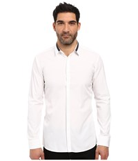Hugo Ewid Contrast Collar White Men's Clothing