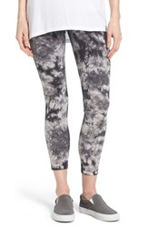 Women's Hue Tie Dye Ankle Leggings Black