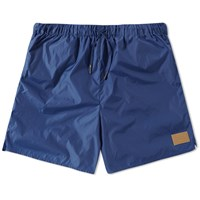 Acne Studios Perry Face Nylon Swim Short Blue