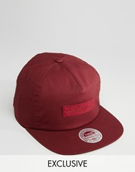 Mitchell And Ness Cap With Elastic Back Red
