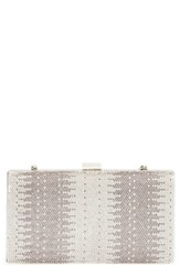 Natasha Couture Jewel Crystal Embellished Box Clutch