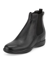 Prada Napa Leather Chelsea Boot Black Nero