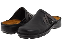 Naot Footwear Anise Black Madras Leather Metallic Road Leather Black Lace Nubuck Women's Clog Shoes
