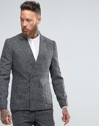Rogues Of London Asymmetric Blazer Charcoal Grey