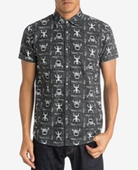 Quiksilver Men's Skull Cave Graphic Print Short Sleeve Shirt