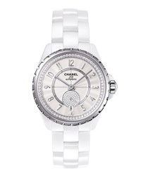 Chanel J12 White 36.5Mm Ceramic Watch With Diamonds
