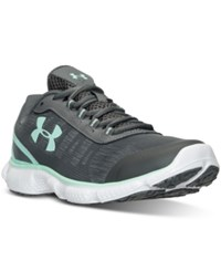 Under Armour Women's Micro G Attack 2 Running Sneakers From Finish Line Graphite Crystal