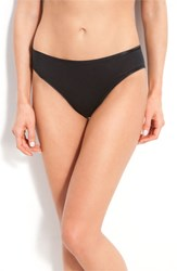 Women's Hanro Seamless Cotton High Cut Briefs Black