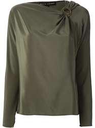 Ralph Lauren Black Gathered Detail Blouse Green