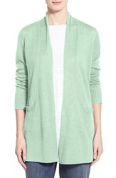 Women's Eileen Fisher Organic Linen Straight Long Cardigan