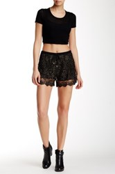 Ryu Open Knit Metallic Embroidered Short Multi