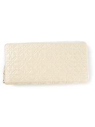 Comme Des Garcons Wallet Embossed Long Wallet Nude And Neutrals