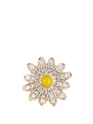 Alison Lou Diamond Enamel And Yellow Gold Daisy Earring Yellow Gold