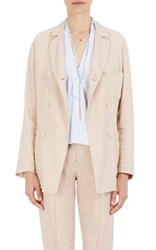 Isabel Marant Women's Nessa Linen Blend Double Breasted Blazer Light Pink