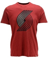 '47 Brand Men's Short Sleeve Portland Trail Blazers Scrum T Shirt Red