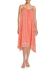 Saks Fifth Avenue Printed Tank Dress Coral